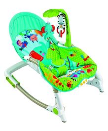 Baybee Toddler Portable Recliner Rocker Chair With Activity Toys - Green