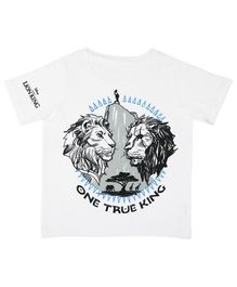 Disney By Crossroads One True King Print Half Sleeves T-Shirt - White