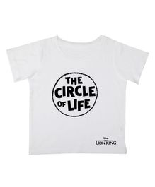 Disney By Crossroads The Circle Of Life Print Half Sleeves T-Shirt - White