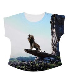 Disney By Crossroads Lion Printed Half Sleeves T-Shirt - White