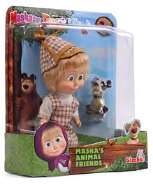 Masha And The Bear With Her Animal Friends - Brown