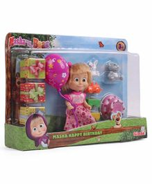 Masha & The Bear Birthday Set Pink - 12 cm