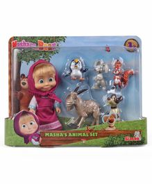 Masha And The Bear Animal Friends Multicolor - Height 12 cm