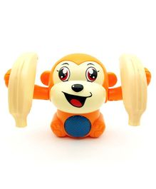 Emob Dancing and Spinning Banana Monkey Musical Toy with Light and Sound Effects - Multicolor