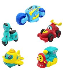 Emob Push & Go Vehicle Set Pack of 5 - Multicolor