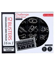 Emob Mind Development IQ Buster Stainless Steel Mind Puzzle Toy Silver - 16 Pieces