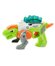 Emob 3-in-1 Transforming Dinosaur Toy Gun With light and Music - Green