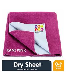 Bey Bee Waterproof Bed Protector Dry Sheet Medium - Rani Pink