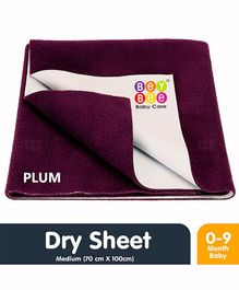 Bey Bee Waterproof Bed Protector Dry Sheet Medium - Plum