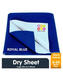 Bey Bee Waterproof Bed Protector Dry Sheet Large - Royal Blue