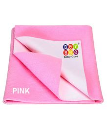 Bey Bee Waterproof Bed Protector Dry Sheet Large - Pink