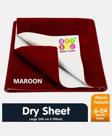 Bey Bee Waterproof Bed Protector Dry Sheet Large - Maroon