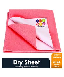 Bey Bee Waterproof Bed Protector Dry Sheet Extra Large - Salmon Rose