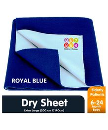 Bey Bee Waterproof Bed Protector Dry Sheet Extra Large - Royal Blue