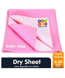 Bey Bee Waterproof Bed Protector Dry Sheet Extra Large - Pink