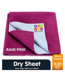 Bey Bee Waterproof Bed Protector Dry Sheet Extra Large - Rani Pink