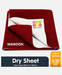 Bey Bee Crib Sheet Extra Large - Maroon