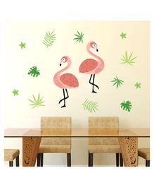 Chipakk Flamingo wall Sticker - Multicolour