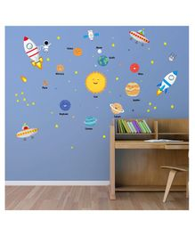 Chipakk Solar System Wall Sticker - Multicolour