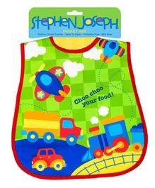 Stephen Joseph Wipable Bibs Transportation- Multicolor