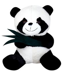 My NewBorn Panda Soft Toy White Black - Height 33 cm