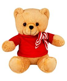 My NewBorn Teddy Bear Soft Toy Red and Beige - Height  30 cm