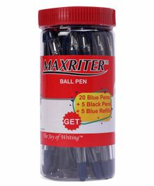Cello Maxriter Ball Pen Jar  Pack of 30 - Blue