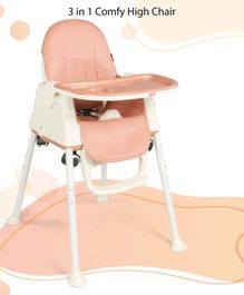 Babyhug 3 in 1 High Chair With Wheels - Brown