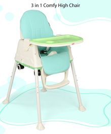 Babyhug 3 in 1 High Chair With Wheels - Green