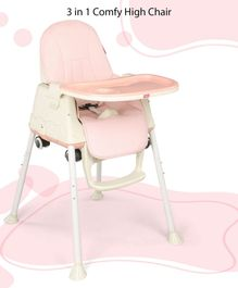 Babyhug 3 in 1 High Chair With Wheels - Pink