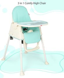 Babyhug 3 in 1 High Chair With Wheels - Blue