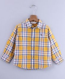 Beebay Checkered Full Sleeves Shirt - Yellow