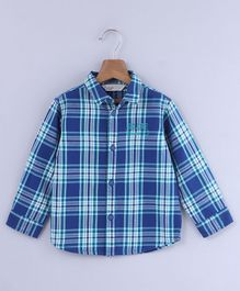 Beebay Checkered Full Sleeves Shirt - Blue