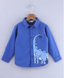 Beebay Dino Graphic Full Sleeves Shirt - Blue