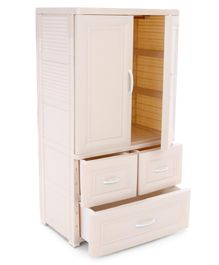 Storage Cabinet With Drawers - Cream