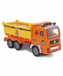 Dr Toy Flash Electric Engineering Truck - Orange Yellow