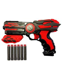 Webby Blaze Strom Soft Bullet Toy Gun with 6 Foam Bullets - Red Black