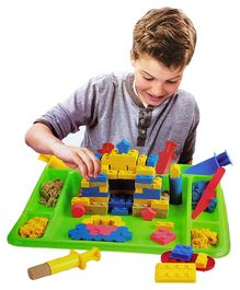 Webby Magic Sand Activity Play Set with Sand Tray & 12 Different Molds