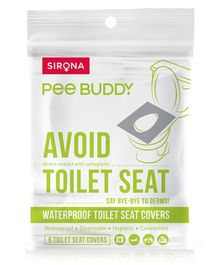 Pee-Buddy Waterproof Toilet Seat Cover - 5 Toilet Sheets