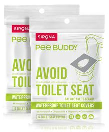 Pee-Buddy Toilet Seat Cover - 10 Toilet Sheets (2 x 5 Sheets Each)