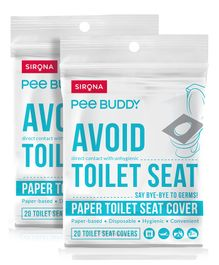 PeeBuddy Flushable Toilet Seat Cover - 40 Seat Covers -(2 x 20 Seat Covers)