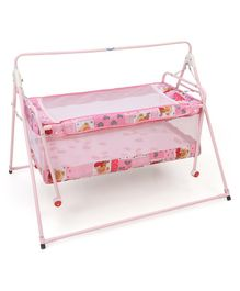 Natraj Sleep Well Cradle Multi Print - Pink