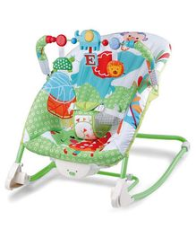 Toyshine Infant to Toddler Deluxe Baby Rocker Vibrating Chair - Green