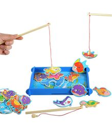 Toyshine Wooden Magnetic Fishing Game Toy - 12 Pieces