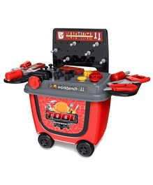 Toyshine DIY Portable Tool Set Toy With Briefcase Red - 28 Accessories