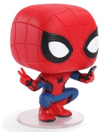 FunKo Spider Man Bobble Head Pop Action Figure Red - 9.5 cm