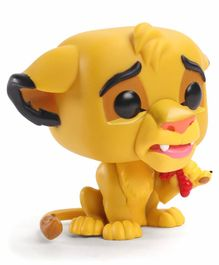 FunKo Lion King Simba With Bug Classic Pop Action Figure Yellow- Height 8 cm
