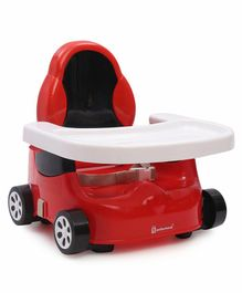 Mothertouch Car Shaped Feeding Booster Seat - Red Black