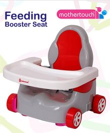 Mothertouch Car Shaped Feeding Booster Seat - Grey Red