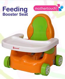Mothertouch Car Shaped Feeding Booster Seat - Green Orange